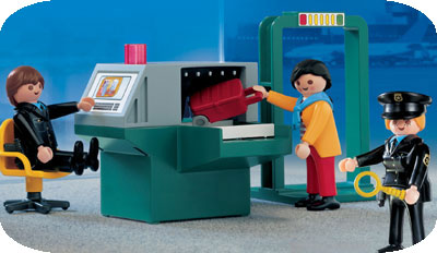 airport screening playset